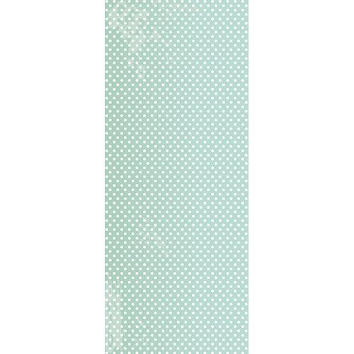 Adhésif sticker porte vert pastel apaisant avec points blancs pour égayer une entrée ou une chambre