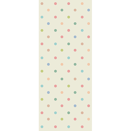 Sticker pour porte plein de couleurs pastels