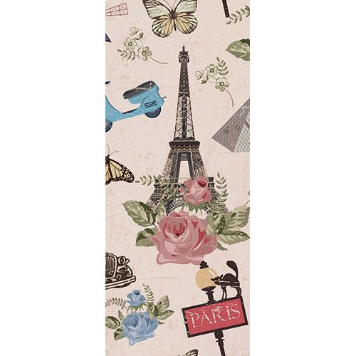 Sticker adhésif décoratif modèle inspiré de Paris pour portes