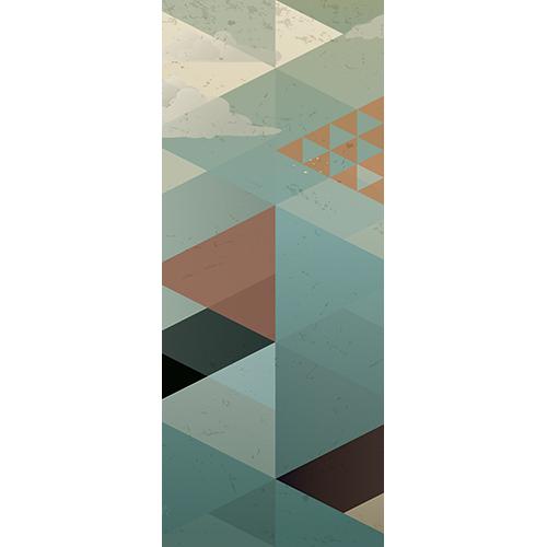Sticker adhésif pour décorer les portes modèle triangles scandinaves