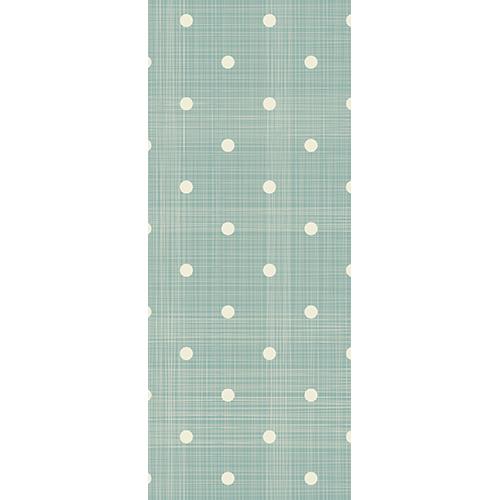 Sticker adhésif collable avec point blancs et rayures verticales et horizontale sur fond vert pâle