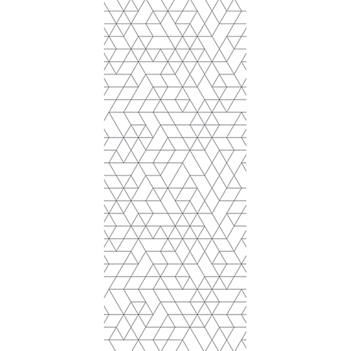 sticker adhésif pour porte style art déco noir et blanc géométrique
