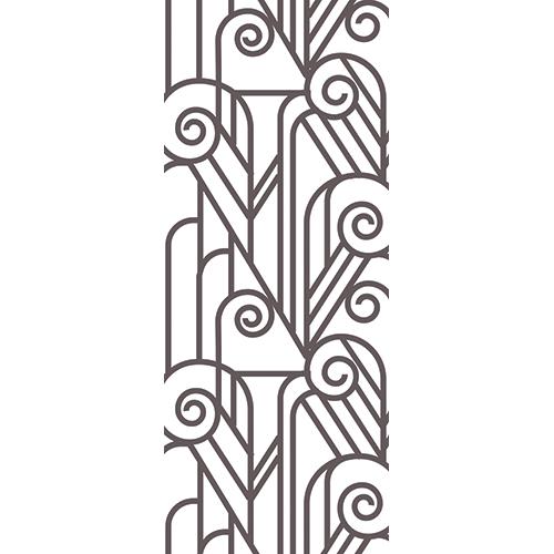 Sticker adhésif pour portes intéreure imitation vitraux noirs et blancs