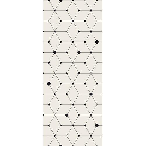 Sticker autocollant géométrique pour portes modèle formes géométriques et points