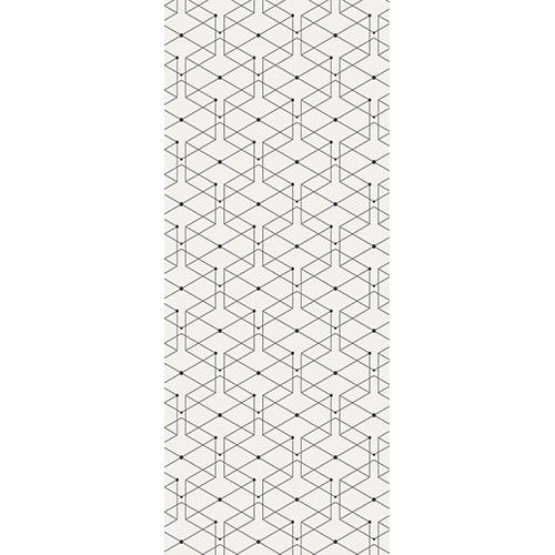 Adhésif autocollant pour portes avec motifs géométrique fin et noir