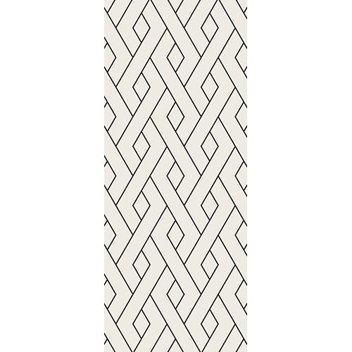 Sticker décoratif pour portes modèle formes géométriques noirs