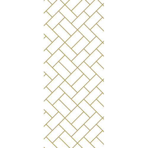Sticker autocollant adhésif pour porte avec brique dorées et blanches géométriques et moderne salon salle de bain chambre ou entrée de la maison décorée