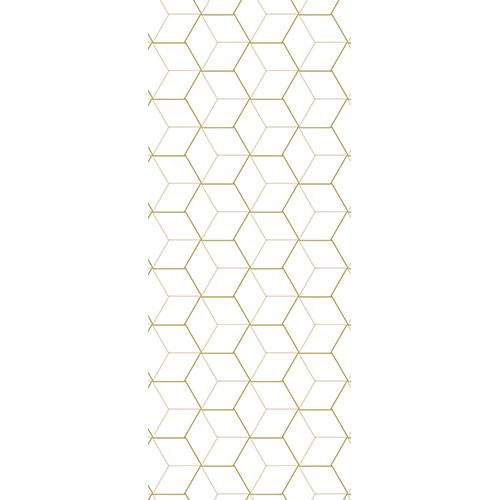 Sticker collant adhésif poiur porte avec cube ou piramide en 3D