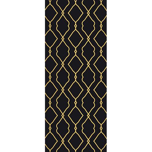 Sticker adhésif pour portes modèle Renaissance classique doré et noir