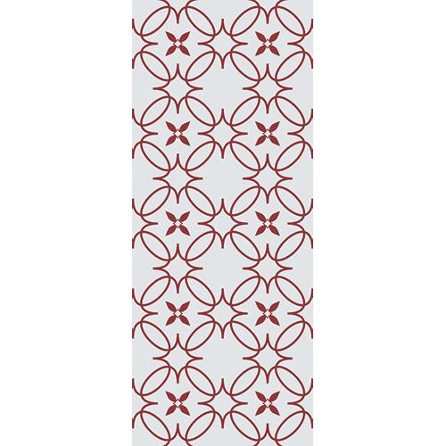 Sticker autocollant décoratif pour portes d'intérieur modèle imitation céramique rouge