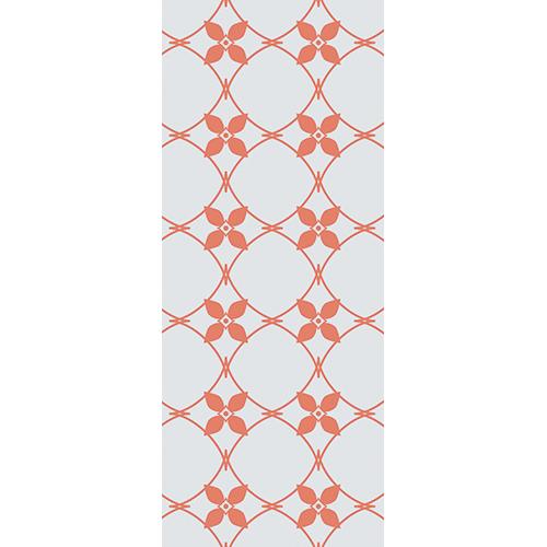 Sticker décoratif carreaux de ciment oranges pour portes déco adhésif collable