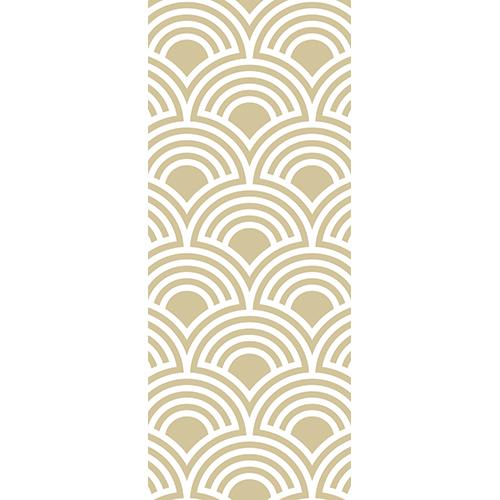 Sticker adhésif pour portes modèle écailles dorées