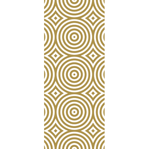 Sticker autocollant déco d'intérieure pour portes ronds dorés