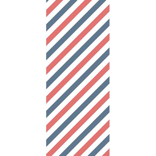 Sticker adhésif pour portes décoration bandes tri-colores