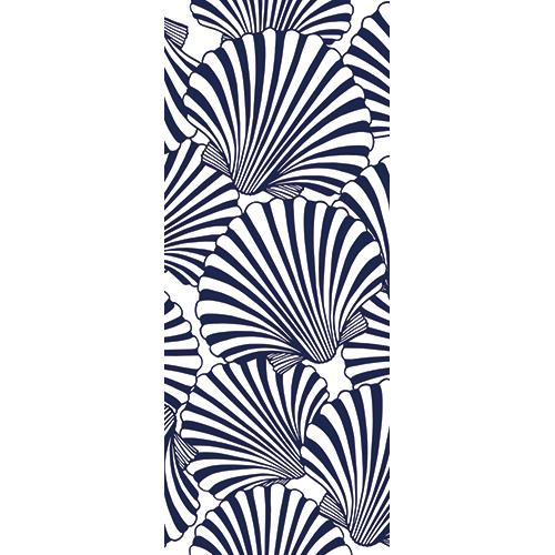 Sticker adhésif mosaïque de coquilles StJacques pour portes