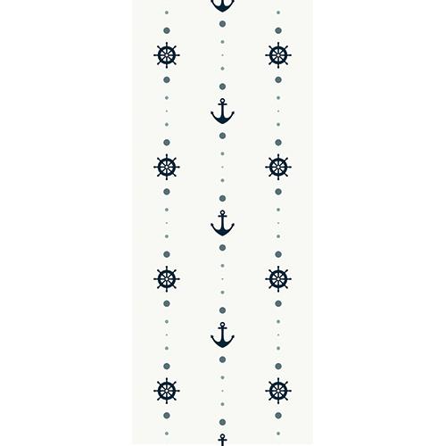 Sticker décoratif d'intérieur pour porte frise d'ancres décorative