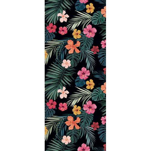 Sticker décoratif pour portes modèle fleurs de toutes les couleurs
