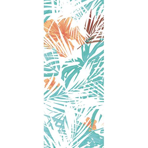 Sticker pour porte décoration autocollante d'intérieure pour pote modèle jungle tri-colores