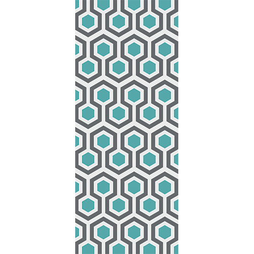 Pour une décoration d'intérieure tendance optez pour une adhésif déco nid d'abeille bleu et gris tendance hexagone art déco !