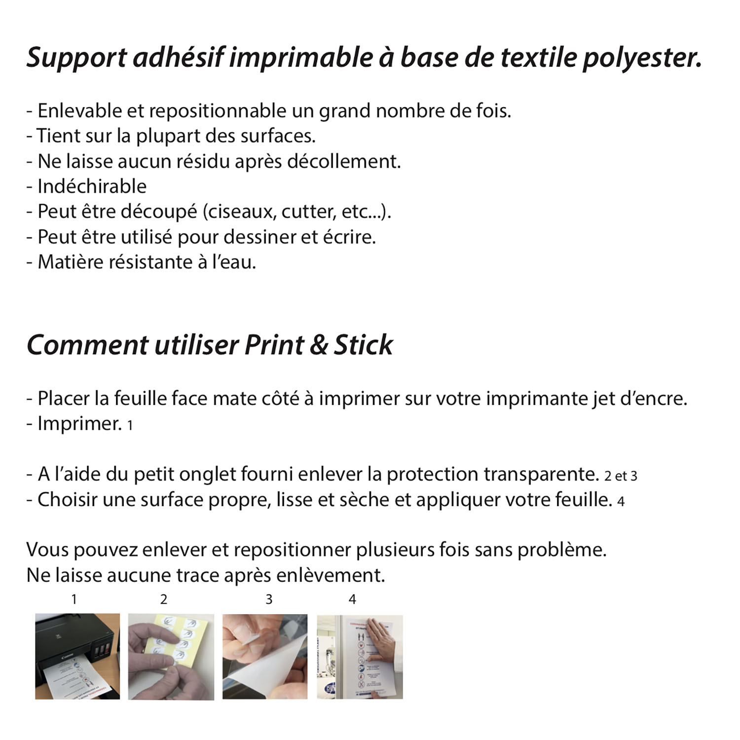 instructions de pose print & stick