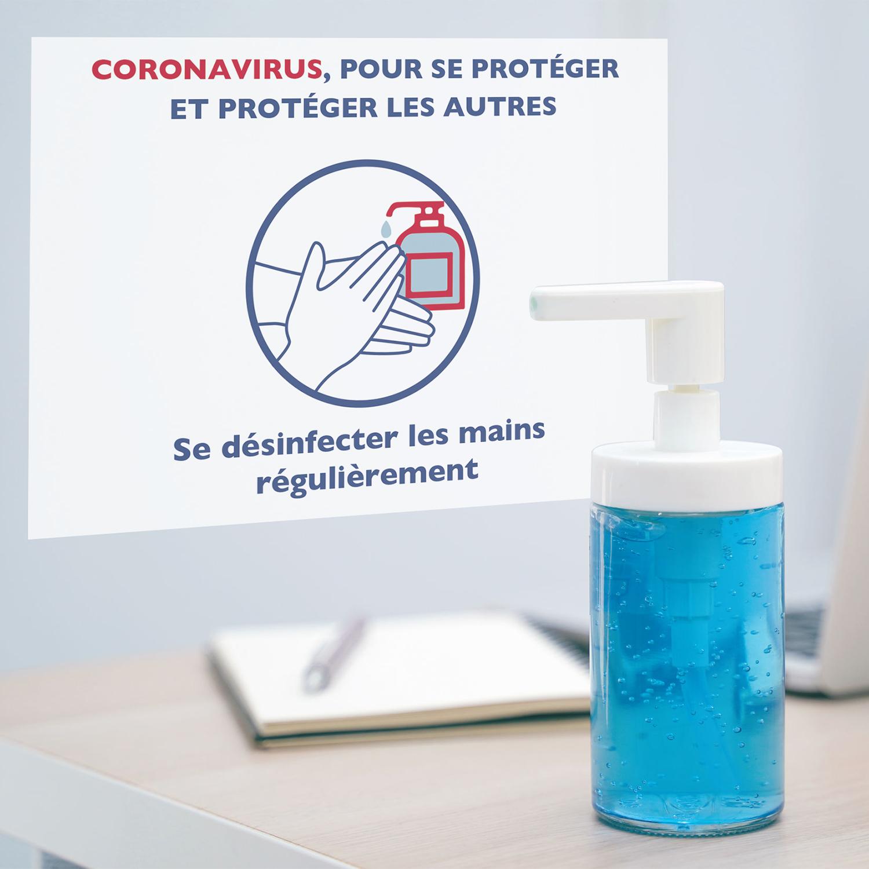se désinfecter les mains contre le coronavirus