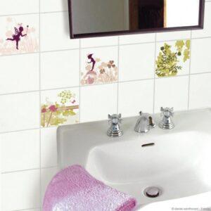 Frise murale de décoration, sticker fées pour carrelage