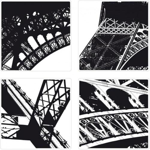 Sticker adhésif pour carrelage cuisine ou salle de bain : Bienvenu à Paris effet tour eiffel