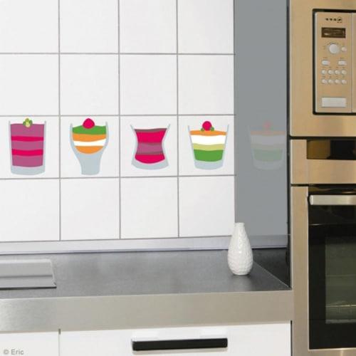 Sticker carrelage verrines pour déco carrelage cuisine
