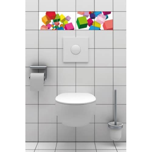 Amateurs d'art: sticker autocollants Cubes 3D mis en ambiance, 2ème proposition