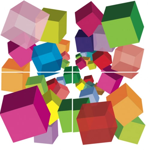 Stickers adhésifs Cubes 3D décoration d'intérieur