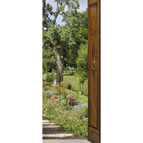 Sticker Mon Jardin pour porte