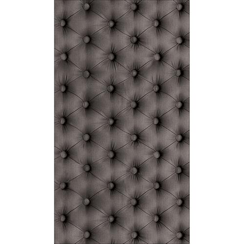 Sticker décoratif pour coller sur un frigo américain imitation capiton gris