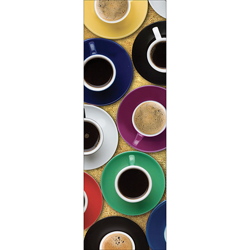 Sticker autocollant modèle Tasse de café pour grand frigo
