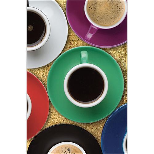 Sticker décoratif adhésif pour petits frigo modèle tasse de café