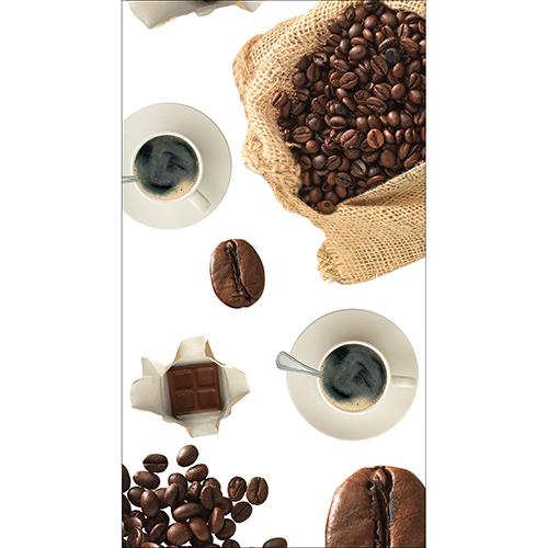 Sticker décoratif pour cuisine modèle café pour Frigo Américain