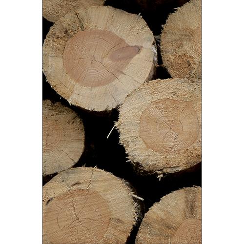 Sticker décoratif pour petits frigo déco buches en bois