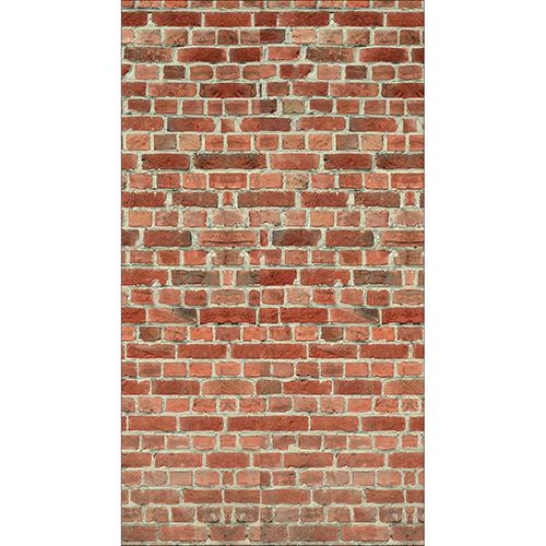 Sticker décoratif adhésif pour frigo américain imitation mur de briques rouges