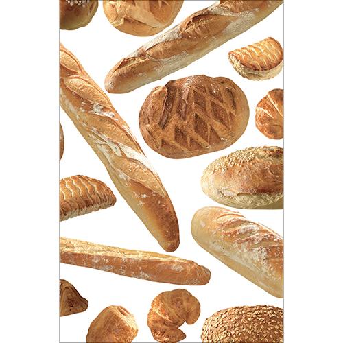 Sticker décoratif adhésif boulangerie à coller sur un petit frigo
