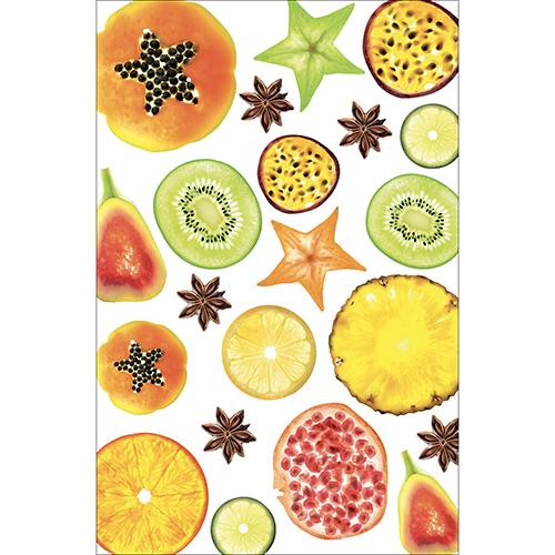 Sticker autocollant motif FRUITS EXOTIQUES pour petits frigo
