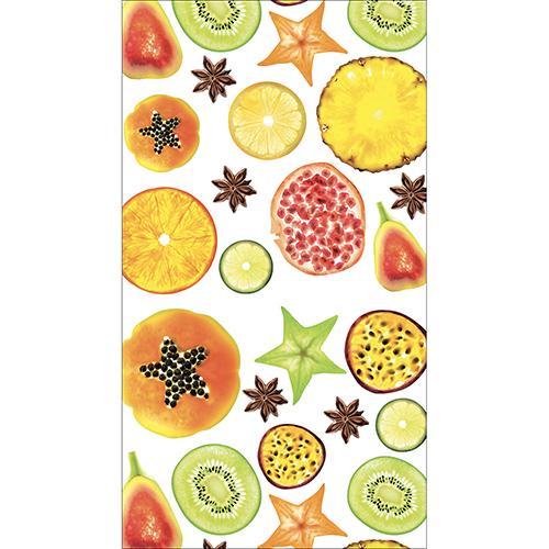 Sticker décoratif autocollant pour frigo Américain motif FRUITS EXOTIQUES