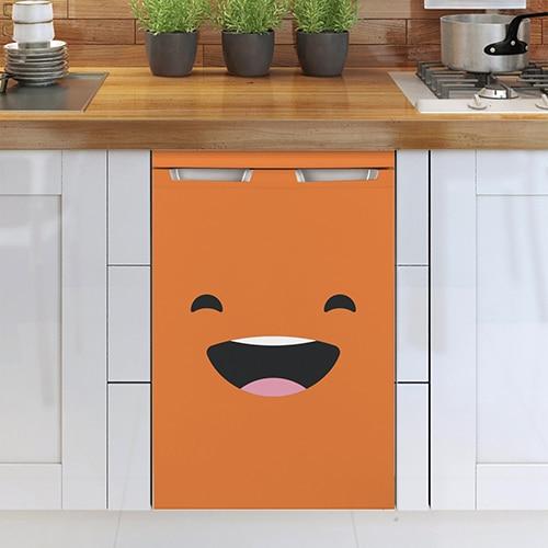 Stickers autocollants Smiley Heureux Orange