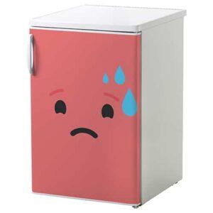 Stickers déco pour électroménager Smiley Inquiet Rose rouge