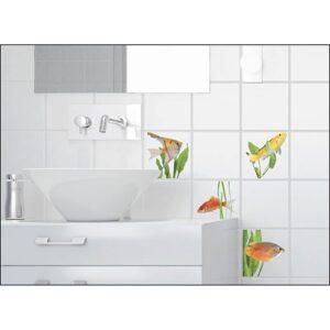 sticker pour carrelage Poissons dans une salle de bain