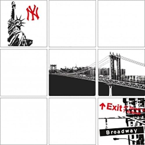 sticker carrelage New York noir et blanc