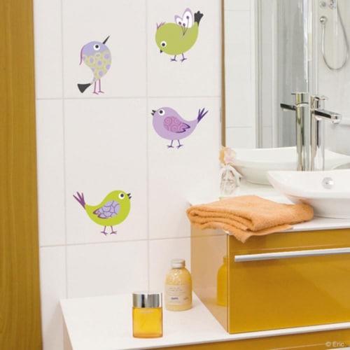 Adhésifs muraux Oiseaux dans une salle de bain