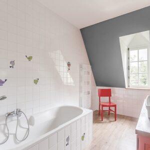 stickers déco Oiseaux dans une salle de bain
