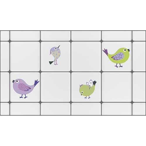 stickers autocollants Oiseaux à coller sur carrelage