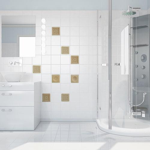 sticker Savons à coller sur carrelage de salle de bain