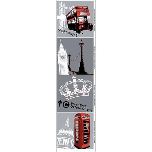 Lot de 4 stickers Londres