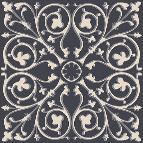 Stickers imitation carrelage Faux Carreaux de Ciment Gris
